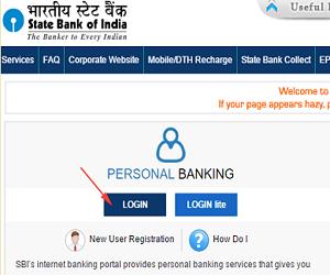 SBI Personal Banking Registration