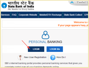 SBI Personal Banking online