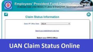 UAN Claim StatusOnline