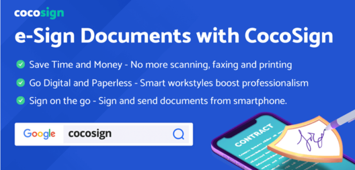 CocoSign to Digitize the Manual Work