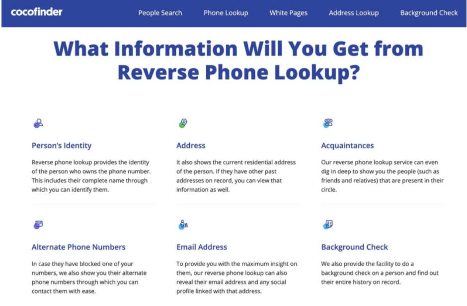 Reverse Phone Lookup Site