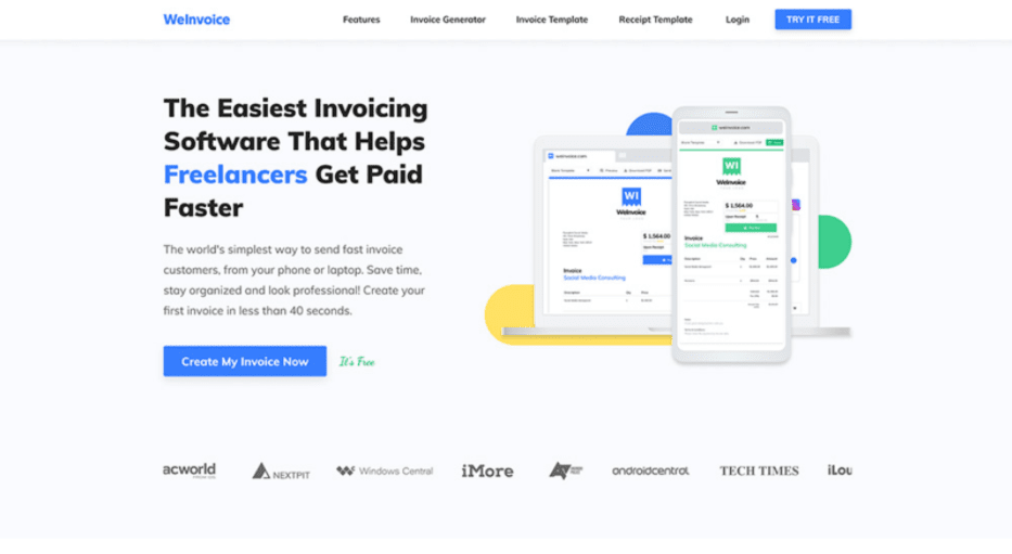 WeInvoice Has Free Invoice Templates in Different Formats